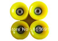 Free Shipping PU yellow 60Mm*45MM Skateboard Wheel Penny Skateboard Wheel longboard wheels