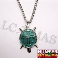 Cosplay  Hunter x Hunter Gon Freecss Paladin Necklace / Chain Green Pendant Cross Sign Logo
