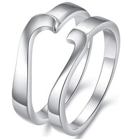 2014 Real Time-limited Freeshipping Metal Lovers' Classic Wedding Wedding Bands Yes Day Gift Two-in-one Pure Lovers Ring Love