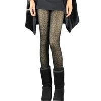 2013 New Fashion Leopard Animal Print Sexy Sheath Pants Velour Lining Warm Leggings