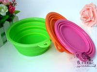 Silica gel folding bowl pet dog bowl retractable type travel outdoor saidsgroupsdirector bowl antibiotic portable