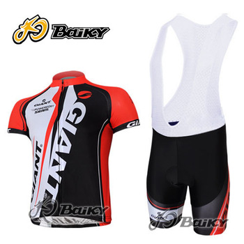 New Giant Red and Blue Bicycle Bike Team Sport Cycling Jersey S-3XL 3D coolmax padding bib short