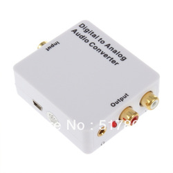 Digital SPDIF Optical Coaxial Toslink to Analog RCA L/R Audio Converter Adapter Free Shipping(China (Mainland))