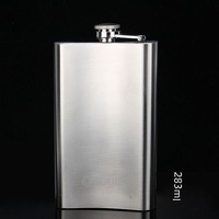 New Item1pcs Portable Men 10oz jug portable flagon stainless steel hip flask 80148 Free shipping