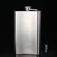New Item1pcs Portable Men 10oz jug portable flagon stainless steel hip flask 80148 Free shipping