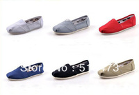 Unisex Men Women Black Classic Canvas Shoes, Plain Casual Sneakers 6 colors + Free Shipping