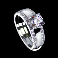 Sona bling bling stone ring - brightness fashion artificial bling bling stone finger ring cubic zircon pure silver ring Women