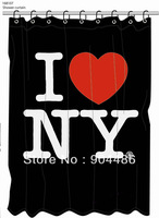Free shipping I Love NY shower curtain.100% Environmental protection