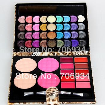 Eye shadow Palette Make up Foundation+ Blush+Lipstick 1pcs/lot Pro 50 Eyeshadow Makeup 8826