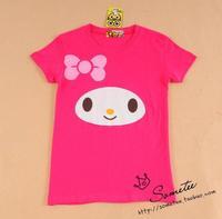 Free shipping melody women's short-sleeve 100% cotton t-shirt lady t shirt