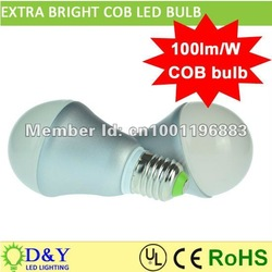 Hot sale!!! A60 COB structure 100 lumen per watt led bulb whole sale incandescent bulbs led replacement 10pcs/ lot(China (Mainland))