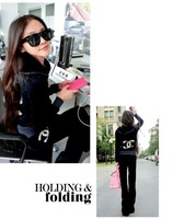 2013 New Women's CC luxury fashion velvet slim rhinestone casual sports sweatshirt set