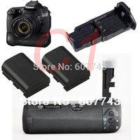 free shipping Battery Grip 60D REBEL X0D digital camera & photo + 2X LP-E6 For Canon SLR DSLR hand  BGE9 BG-E9