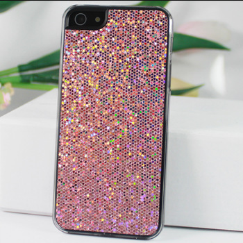 Pink Bling Glitter Hard Back Protective Case Cover Skin Holder For Iphone5 5th 5G, Case Housing For Mobilephone, Free Shipping