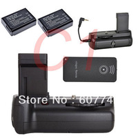 free shipping Battery Grip hand grip + 2x LP-E10 + IR Remote for Canon EOS 1100D/Rebel T3 DSLR camera & photo