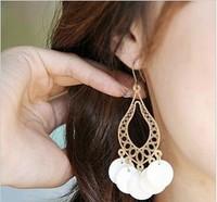 Mixed batch (10 U.S. dollars) national wind retro earrings bohemian the water droplets shell earrings B73
