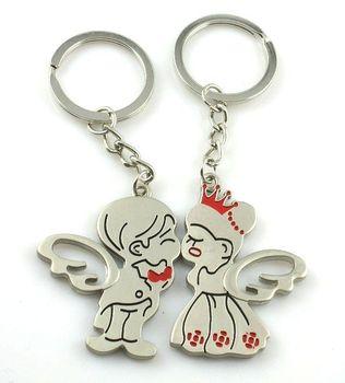 10 pairs/lot  cheap 2014 new FREE SHIPPING lovers keyring fashion princess couple key chain key chain key ring logo
