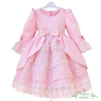 Best Selling Children Kids Dress Long Sleeve Autumn Spring Wear Princess Formal Dress Factory Sale