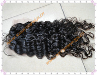 "100% Malaysian vrgin hair lace closure bleached Knots curly human hair top closure(3""*4"")"