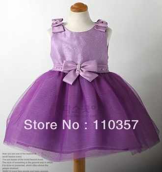 girl christmas dress/princess dress summer girls dress children clothing girls summer clothes purple,4pcs/lots