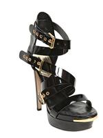 new arrive    High-heeled 15cm    Block Strappy Sheepskin   Women's Gladiator Sandals  Waterproof  table  3cm