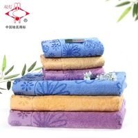 Free Ship Twin-Lantern Bamboo Fibre None Twist Yarn Bath Towel Set Fashion Washouts Combination Face Towels 76x34cm,140x72cm1032