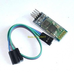 HC-07 Wireless Serial 4 Pin Bluetooth RF Transceiver Module RS232 TTL New for Arduino Free Shipping(China (Mainland))