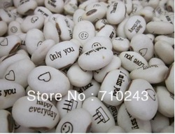 Hot Sale! Magic Growing Message Beans Seeds Magic Bean White English Magic Bean Bonsai Green Home Decoration(China (Mainland))