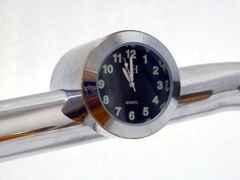 "7/8"" - 1"" Motorcycle Handlebar Bar Mount Clock Clock luminous waterproof Shockproof for Kawasaki Cruiser Chopper"