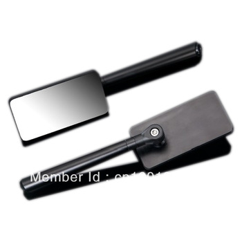 Motorcycle Sport Rearview Black CNC Side Mirrors Cruiser edge to edge 8mm 10mm