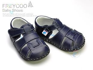 Best selling 11.5 12.5 13.5cm genuine leather baby sandals toddler shoes for boys and girls prewalker infant jayfreycojjz zihuan(China (Mainland))