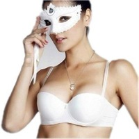 Free Shipping Small thickening no shoulder tape bra wedding dress clothes married invisible underwear slip-resistant push up