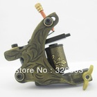 One Custom Pro Top Carbon Steel 10 Wrap Coils Tattoo Machine Gun Supply HTM04-C(China (Mainland))