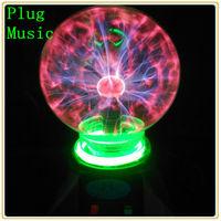 Free Shipping Home Decorative Electric 5'' Music Led Night Light Novelty 5 inch Magic Plasma Ball Sphere
