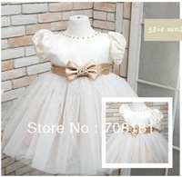 NEW  HOT Free shipping 5pcs/lot baby girls dress summer girls clothing beautiful Princess dress girls bowknot gauze tutu dress