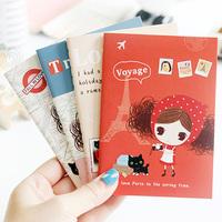 free shipping fashion stationery cute pura girl paris travel mini diary memo pocket book pad notepad notebook pocketbook agenda