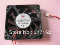 2 Pcs Per Lot Brushless DC Cooling Fan 11 Blade 24V 7015s 70x70x15mm 2 Wires Black Brand New HOT Sale High Quality