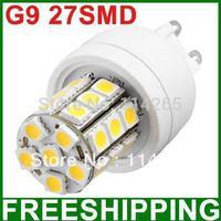 G9 E27 E14 socket 3000K~6500K SMD 5050 27 LED 350LM  4W Cold or warm White Corn lighting spot Bulb 240V/110V
