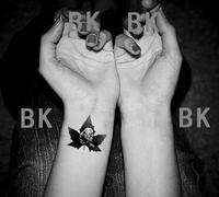 Bk HARAJUKU tattoo stickers marilyn monroe letter tattoo stickers waterproof female HARAJUKU