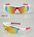 2012 upgrade version of RADAR Sports Sunglasses / Bicycle glasses / Bike Sunglasses with 5pairs lens white with red