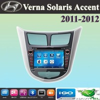 "7"" car DVD player + GPS for Hyundai Verna Solaris Accent 2011 2012 / support full Russian Language"