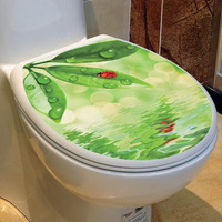 Fashion Toilet Sticker, Water and Beetle Toilet Sticker