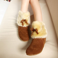 2012 autumn and winter Women boots snow boots thickening thermal female boots sweet plush surface cotton-padded shoes