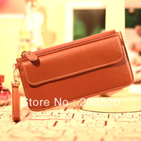 AD009 free shipping hot sell candy color korean wallet/ladies fashion purse/card holder with wristlet