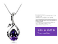 Crystal jewelry wholesale swan Austrian crystal necklace - beautiful swan
