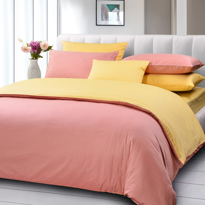 Queen comforters with solid colors images pictures becuo - Pink and yellow comforter ...