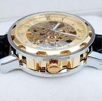 2013 FLE001 Mens Face Automatic Luxury Steel Wrist Watch Skeleton men's Mechanical watch Xmas Gift Free Ship