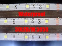 RGB 5050 SMD 30LED/M Waterproof LED Strips+44key IR controller+12V 3A power supplier