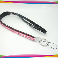 Rhinestone Crystal Lanyard ID Badge Key Card Holder