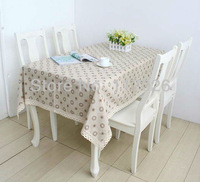 Free shipping dandelion table cloth cotton and linen table cloth natural table cloth 140X220cm LS-015